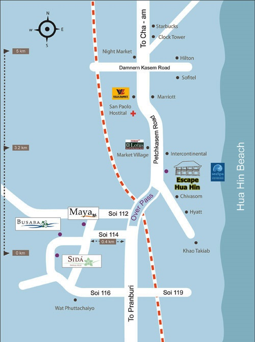 Map_Escape_Hua_Hin